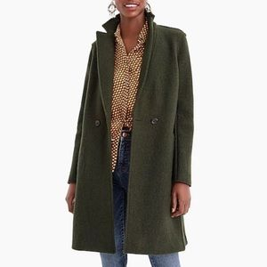 J. Crew Italian Wool Topcoat - Forest Green